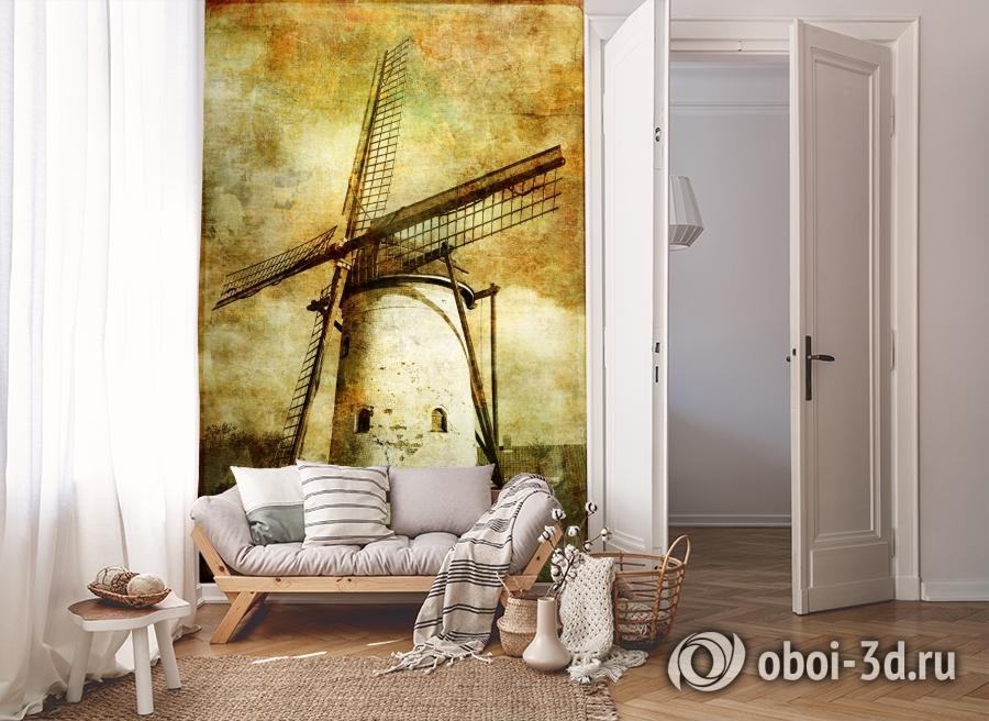 3D Фотообои  «Фреска мельница»  вид 8