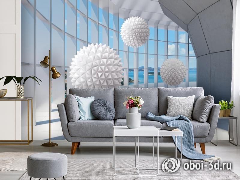 3D Фотообои «Фантастическая терраса» вид 4