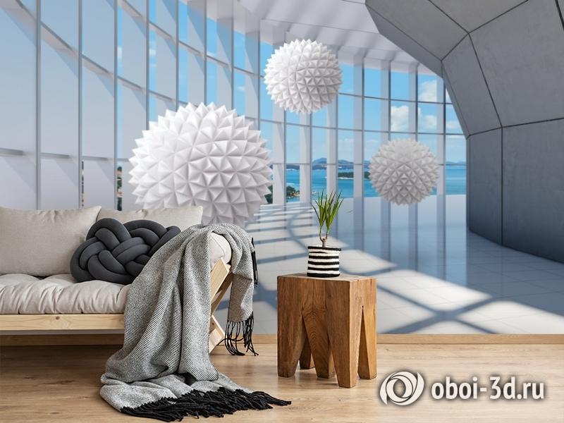 3D Фотообои «Фантастическая терраса» вид 2