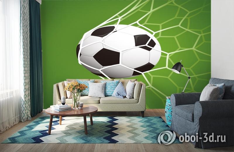 3D Фотообои «Мяч в сетке» вид 6