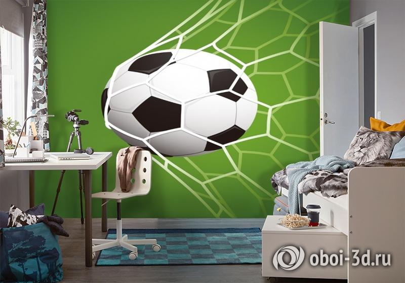 3D Фотообои «Мяч в сетке» вид 4