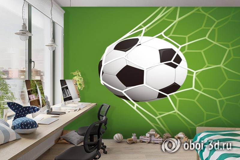 3D Фотообои «Мяч в сетке» вид 3