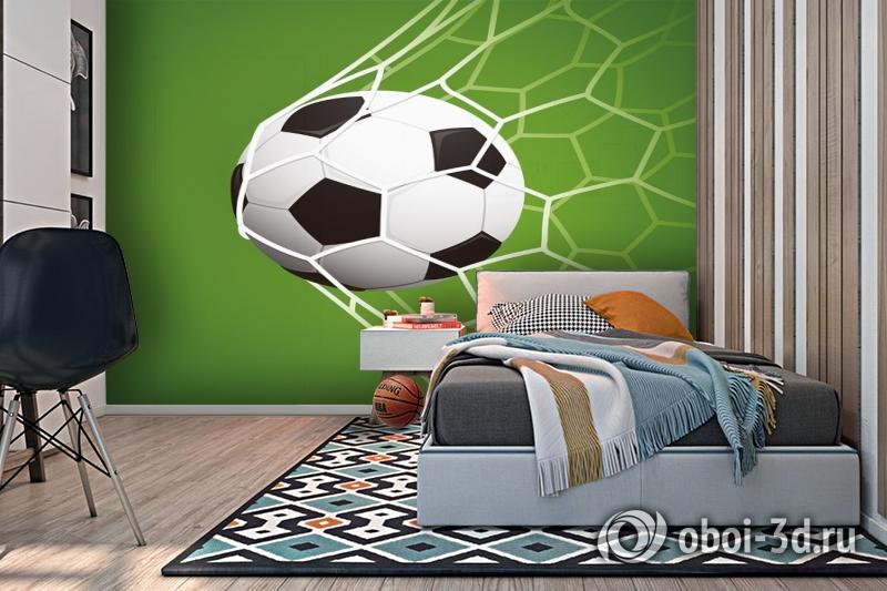 3D Фотообои «Мяч в сетке» вид 2
