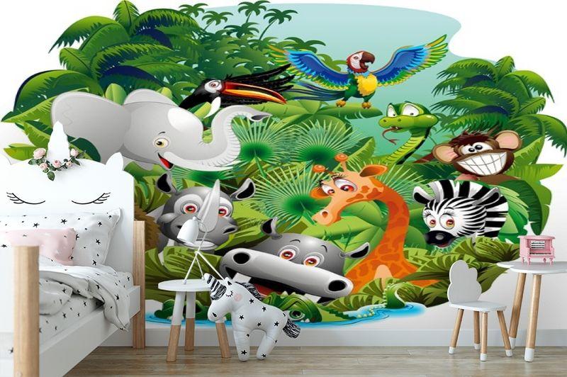 3D Фотообои «Тропическая живность» вид 4