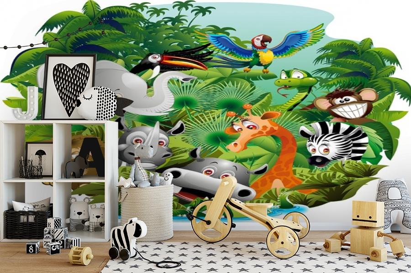 3D Фотообои «Тропическая живность» вид 2