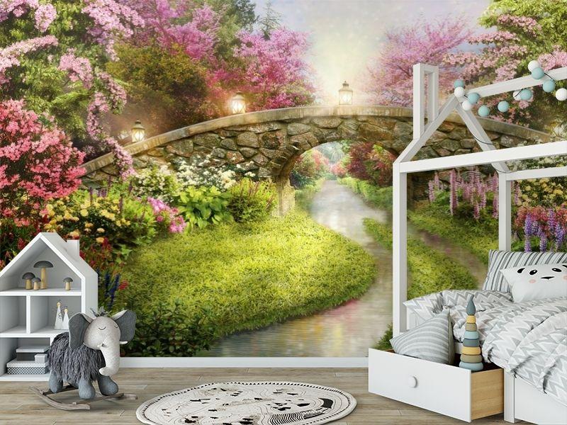 3D Фотообои «Сказочный мостик» вид 6