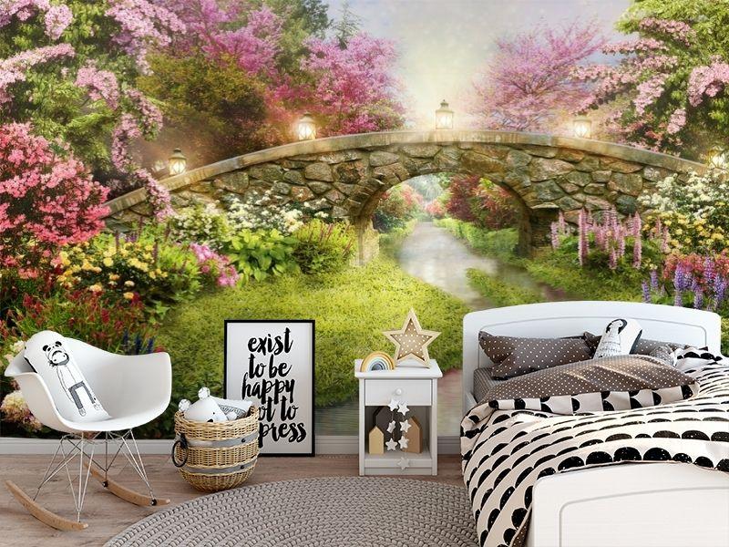 3D Фотообои «Сказочный мостик» вид 5