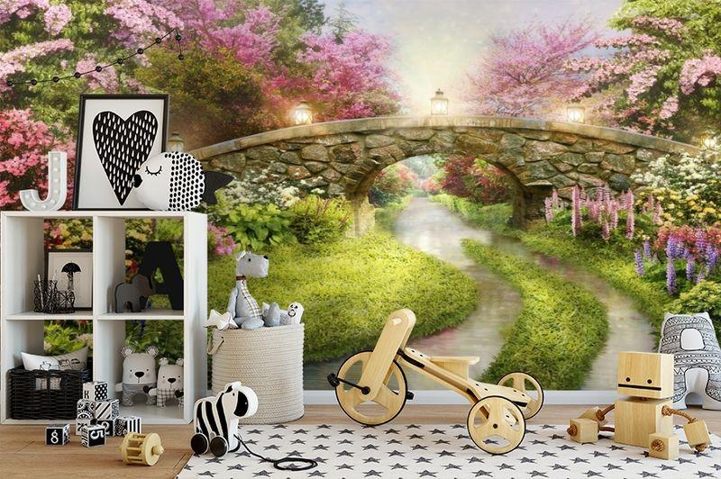 3D Фотообои «Сказочный мостик» вид 2