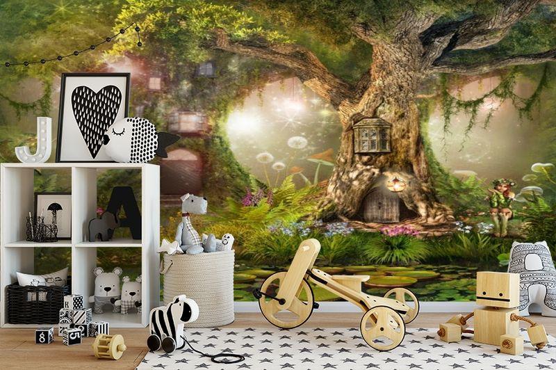 3D Фотообои «Лесные феи» вид 2