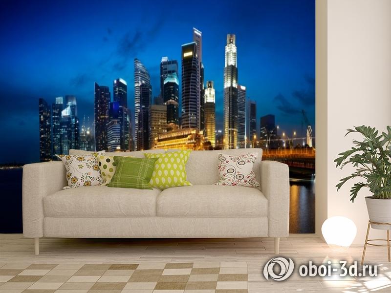 3D Фотообои «Ночной мегаполис» вид 11