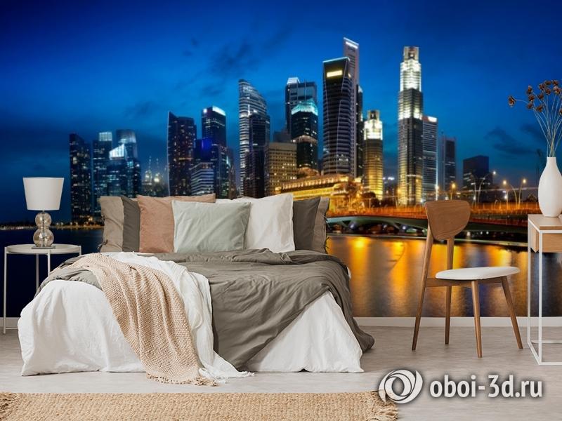 3D Фотообои «Ночной мегаполис» вид 6