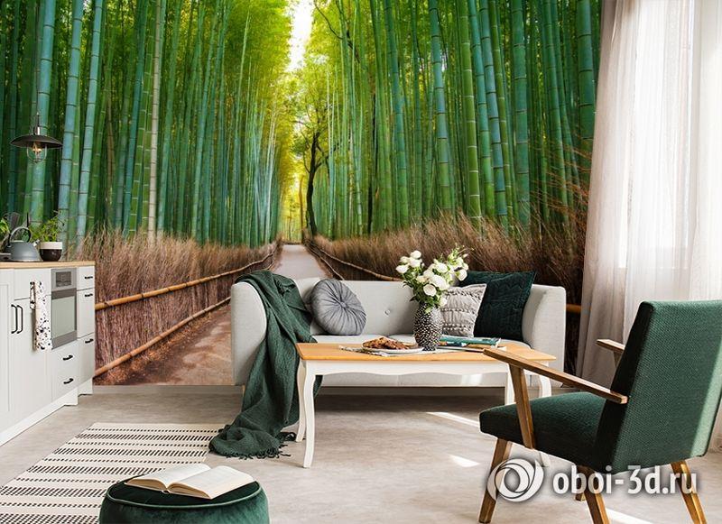 3D Фотообои «Бамбуковый лес» вид 6