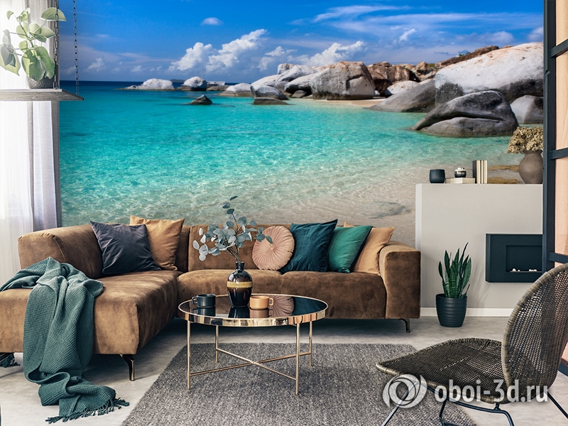 3D Фотообои  «Карибы» вид 2