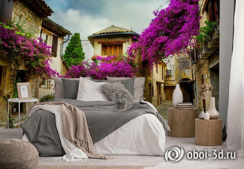 3D Фотообои  «Старая улочка»  вид 4