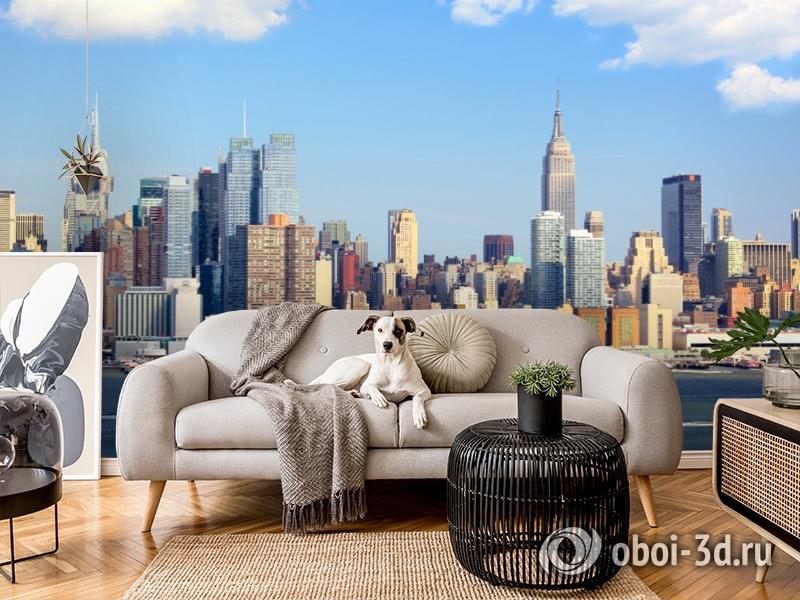 3D Фотообои  «С видом Нью-Йорка»  вид 4