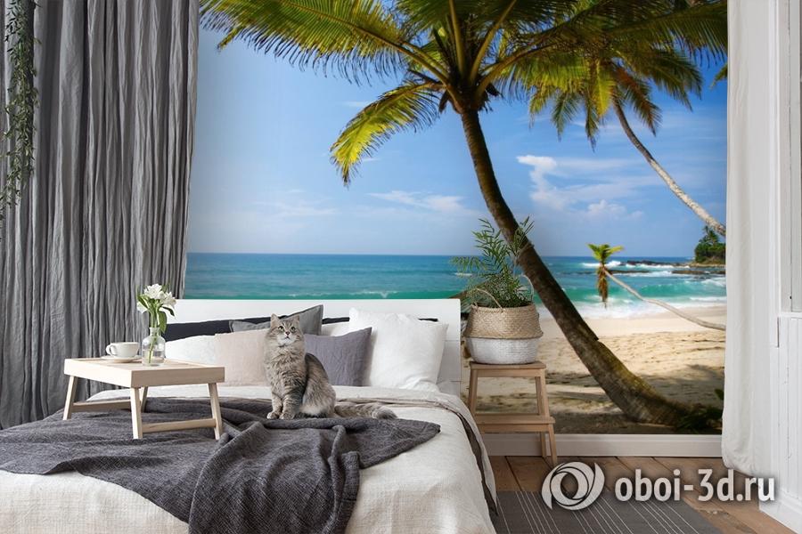 3D Фотообои  «Гамак на пляже»  вид 7