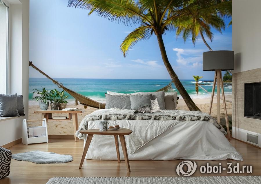 3D Фотообои  «Гамак на пляже»  вид 6