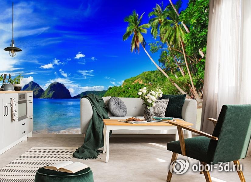 3D Фотообои  «Море панорама»  вид 4