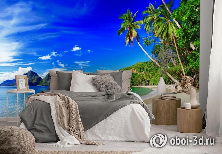 3D Фотообои  «Море панорама»  вид 3