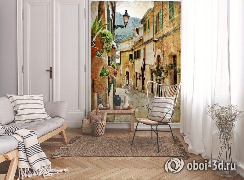 3D Фотообои  «Фреска итальянские улочки»  вид 9