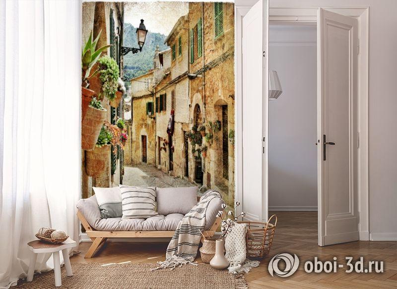 3D Фотообои  «Фреска итальянские улочки»  вид 8
