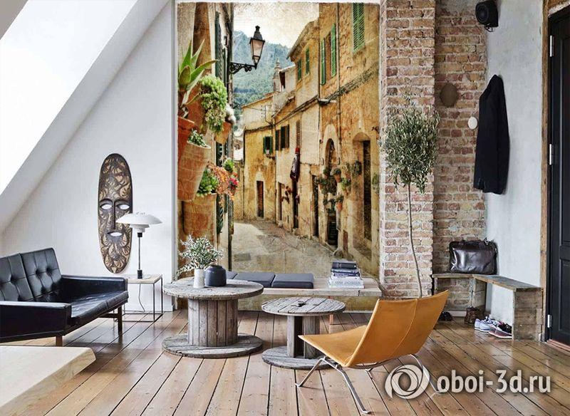 3D Фотообои  «Фреска итальянские улочки»  вид 7
