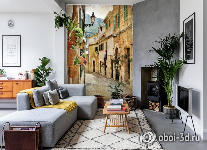 3D Фотообои  «Фреска итальянские улочки»  вид 2