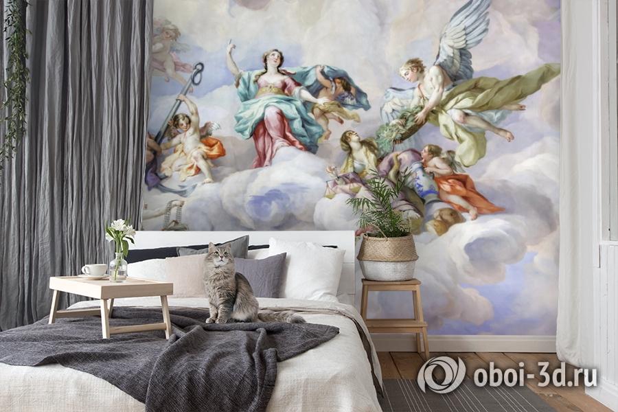 3D Фотообои  «Фреска ангелы»  вид 7