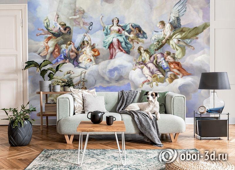3D Фотообои  «Фреска ангелы»  вид 6