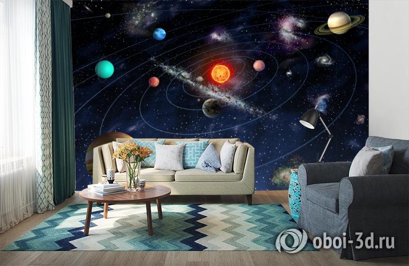 3D Фотообои  «Планеты»  вид 6