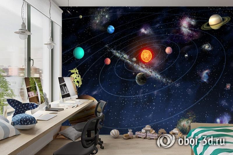 3D Фотообои  «Планеты»  вид 3