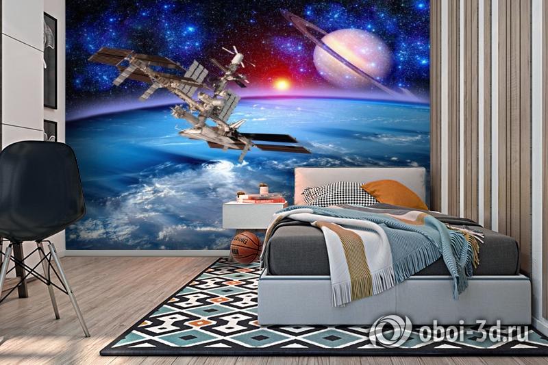 3D Фотообои  «Спутники»  вид 2