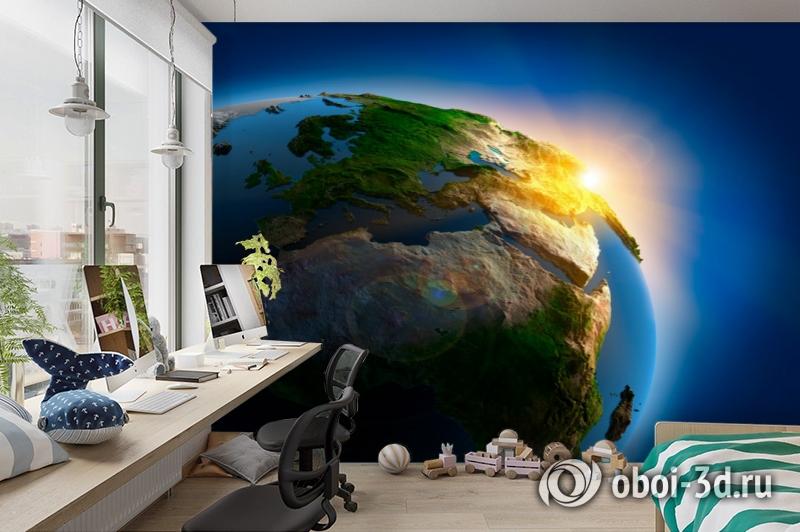 3D Фотообои  «Земля»  вид 3