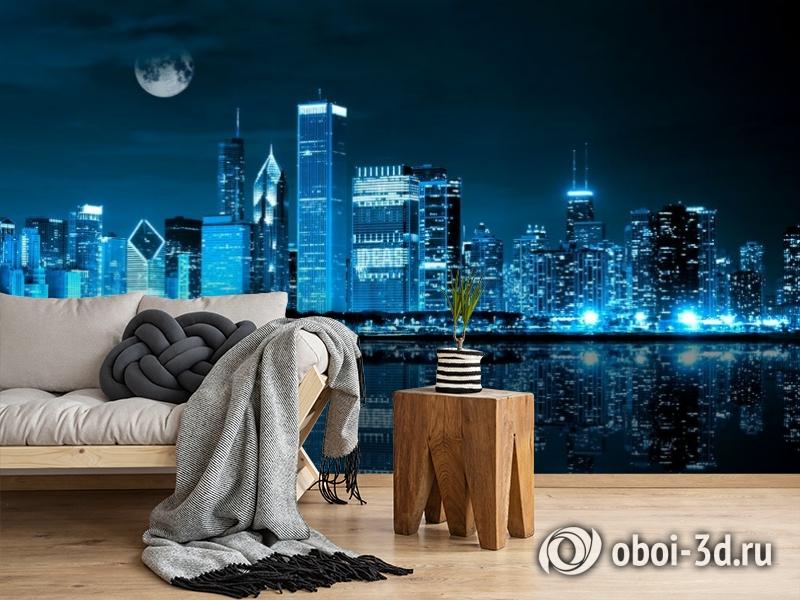 3D Фотообои «Неоновая ночь» вид 5
