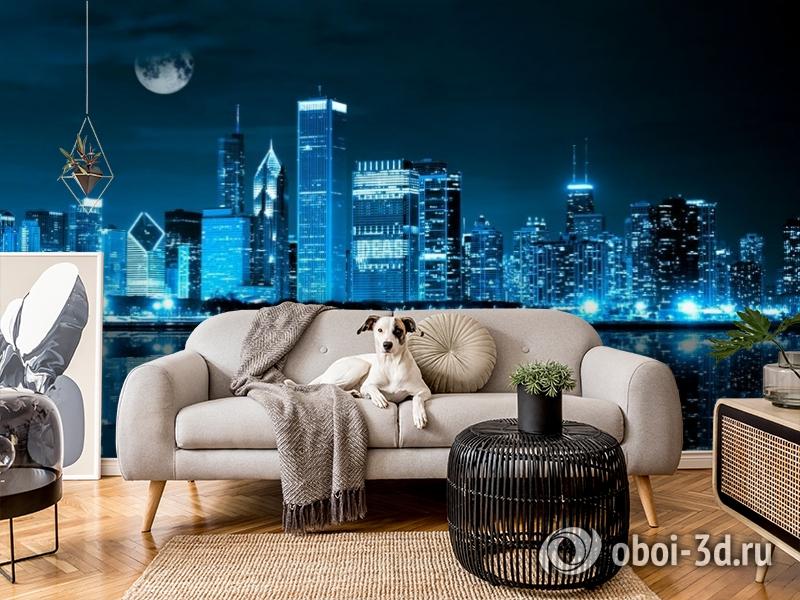 3D Фотообои «Неоновая ночь» вид 4