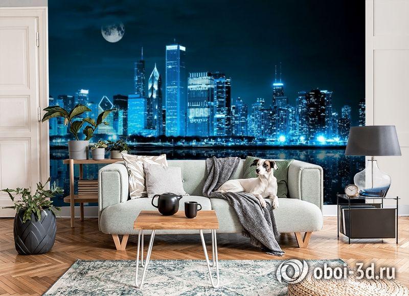 3D Фотообои «Неоновая ночь» вид 3