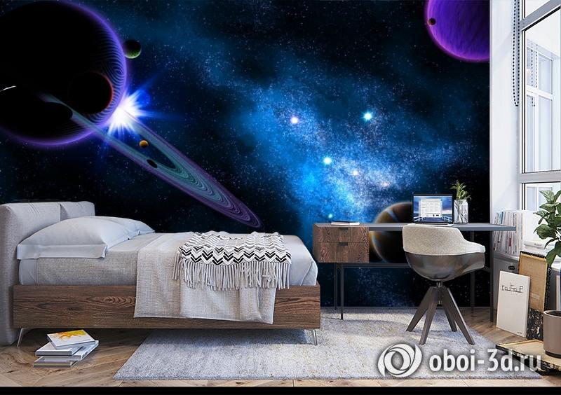 3D Фотообои  «Рассвет на Юпитере»  вид 5