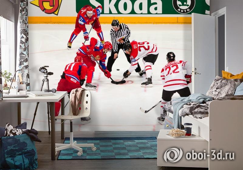 3D Фотообои  «Хоккей»  вид 4