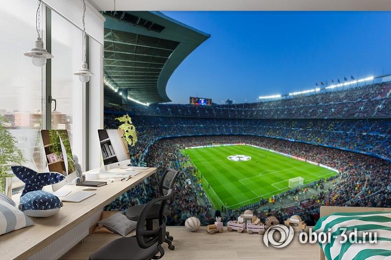3D Фотообои  «Стадион»  вид 3
