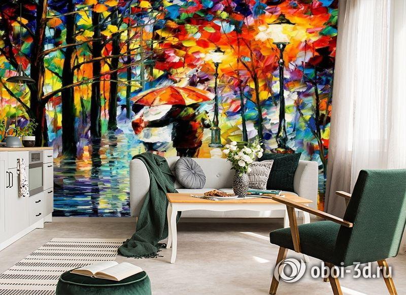 3D Фотообои  «Леонид Афремов. Дождь любви» вид 6