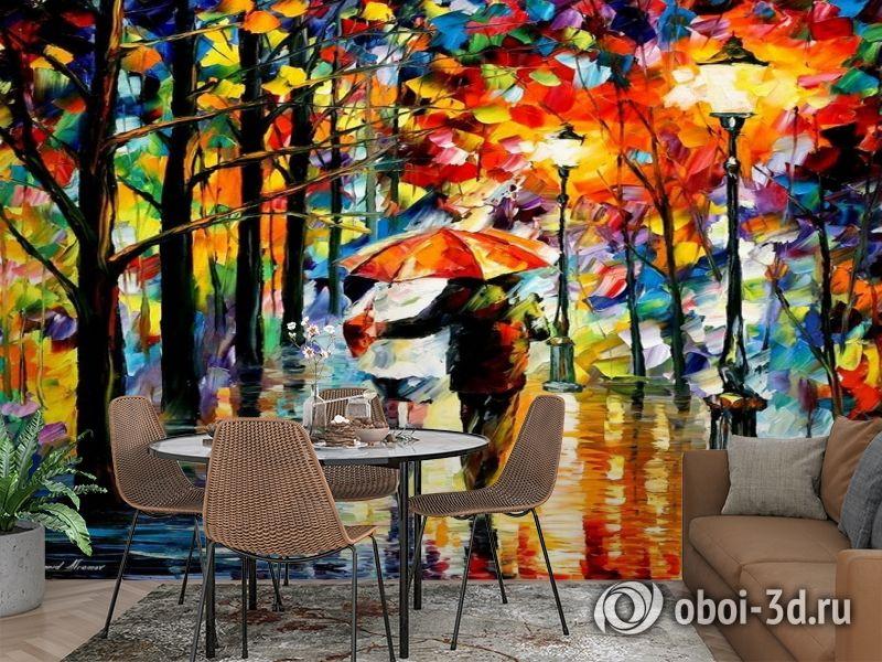 3D Фотообои  «Леонид Афремов. Дождь любви» вид 2