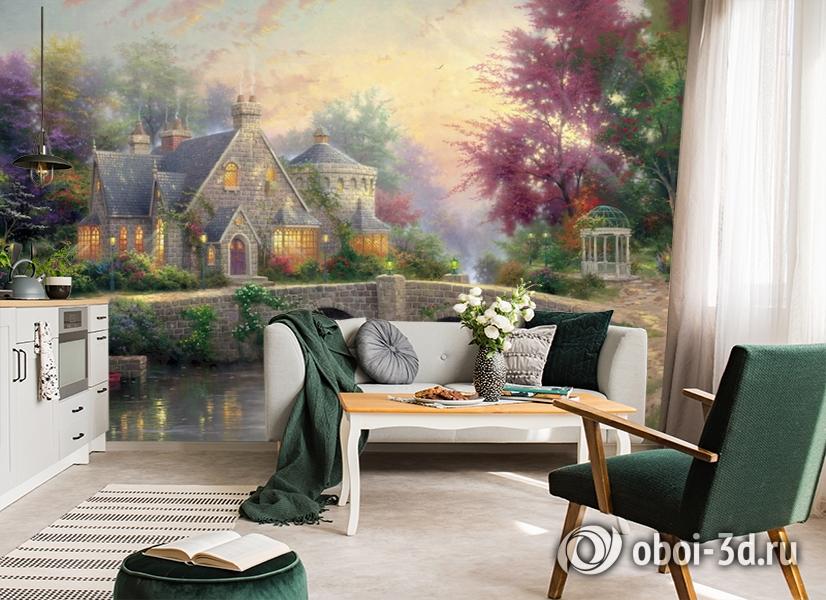 3D Фотообои  «Томас Кинкейд. Сказочный домик» вид 6