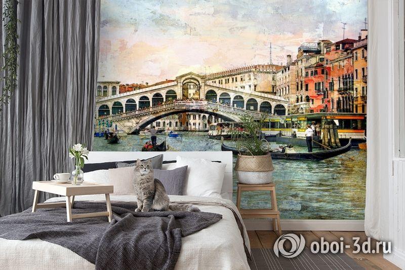 3D Фотообои  «Венеция маслом»  вид 7