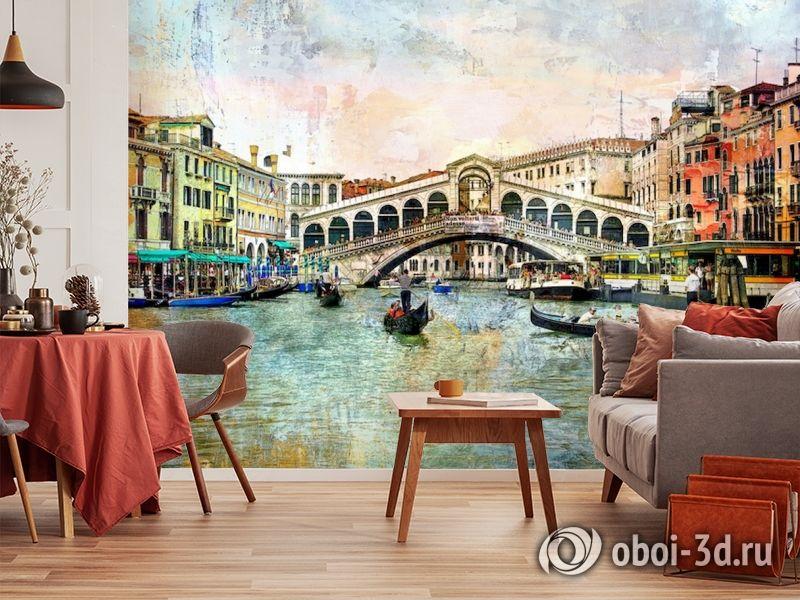 3D Фотообои  «Венеция маслом»  вид 4