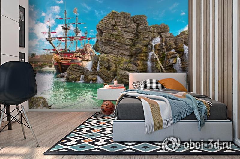 3D Фотообои  «Пиратский остров»  вид 2