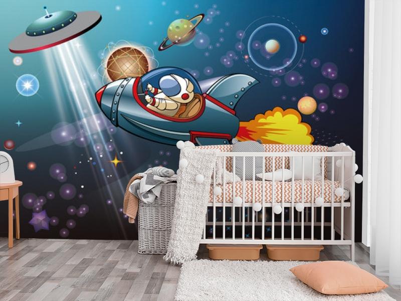 3D Фотообои «Космос в детскую» вид 3