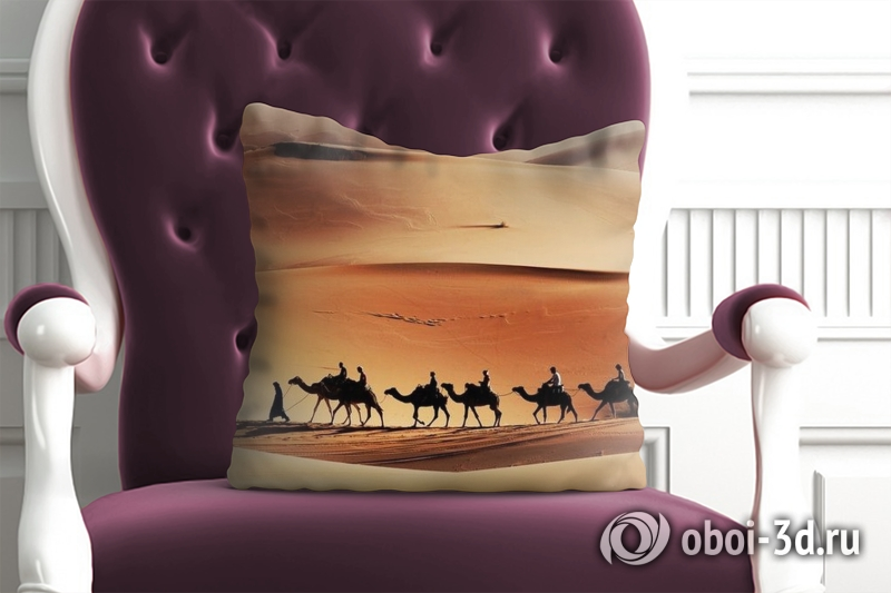 3D Подушка «Пустыня караван» вид 4