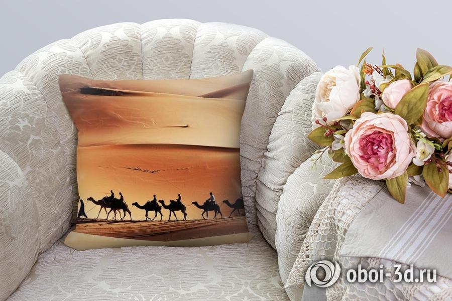 3D Подушка «Пустыня караван» вид 8