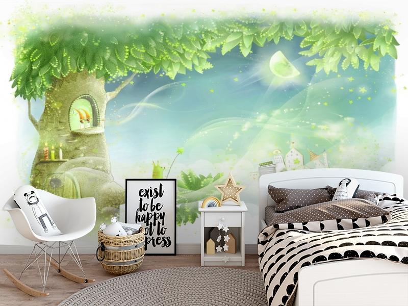 3D Фотообои «Сказочное дерево» вид 5