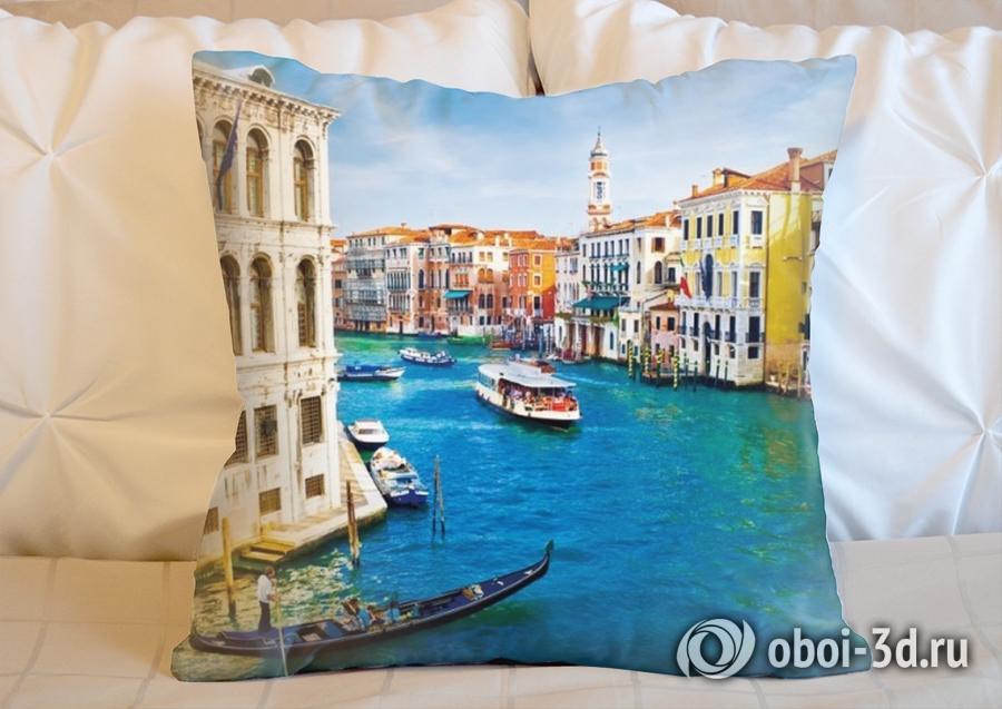 3D Подушка «Венеция: канал Ла-Джудекка»
